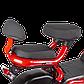 Электрический мопед  R1 RACING  Athena 500W/48V/20AH(DZM) (красный), фото 2