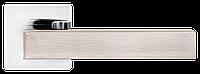 Z-1410 SN/CP РУЧКА ДЛЯ ДВЕРЕЙ НА РОЗЕТЦІ (Матовий нікель/полірований хром), фото 1