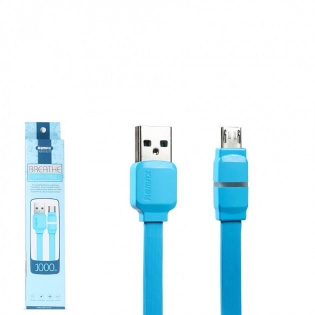 USB кабель Remax Breathe RC-029m MicroUSB 1m Blue