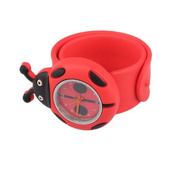 Часы наручные для детей красные Божья коровка