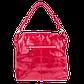 Кожаная женская сумка Realer 2032-1 красная, фото 2