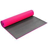 Коврик для фитнеса и йоги PVC 6мм двухслойный SP-Planeta FI-5558 (размер 173x61x0,6) цвета в ассортименте, фото 6