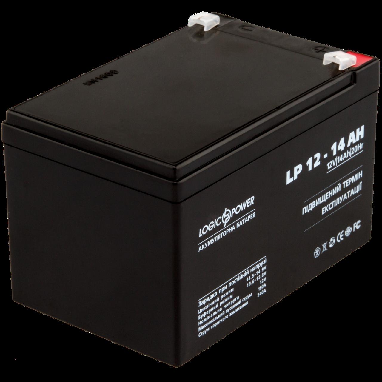 Аккумулятор кислотный AGM LogicPower LP 12 - 14 AH