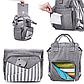 Сумка-рюкзак для мамы Zupo Crafts + гибкий комп. пелен. матрасикУкраина, фото 5