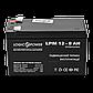 Аккумулятор кислотный AGM LogicPower LPM 12 - 8,0 AH, фото 2