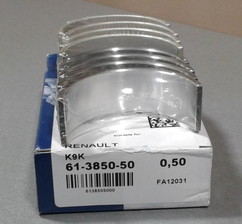 Шатунные вкладыши Renault Kangoo 1,5dci 0.50 mm