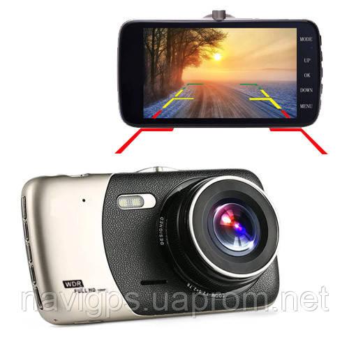 """Автомобільний відеореєстратор X600, LCD 4"""", Angel Lens, камери, 1080P Full HD, метал. корпус"""