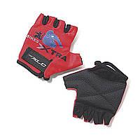Красные детские велосипедные перчатки XLC Sputnik