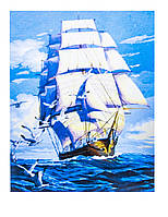 Картина по номерам Парусник, размер 40х50