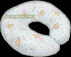 Подушка для кормления младенцев Пижамка, стандартная, длина 220 см, ширина 26 см, ТМ Ромашка, Розовый