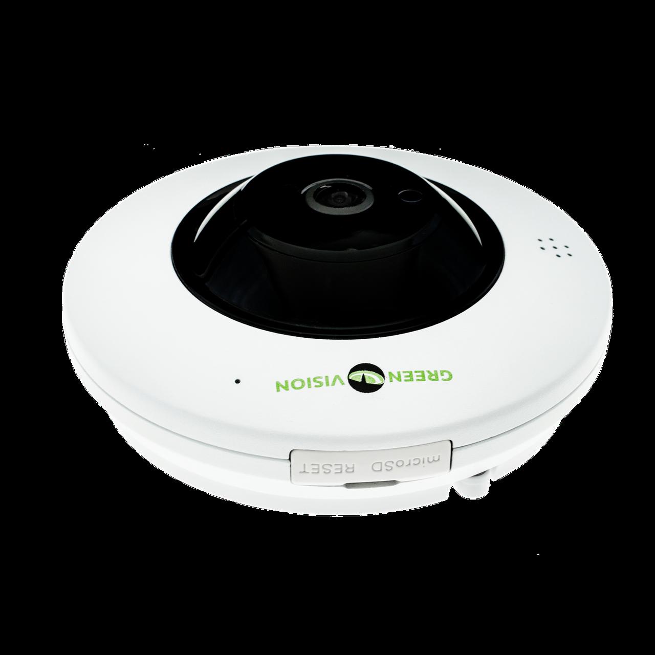 Купольная IP камера GreenVision GV-075-IP-ME-DIА20-20 (360) POE