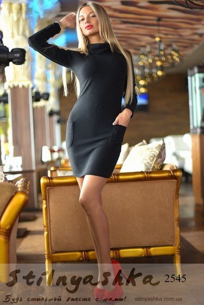 женское теплое платье