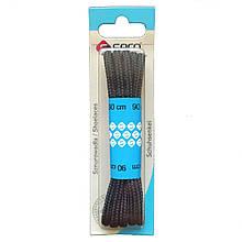 Seco шнурки / круглые / черные 150 см
