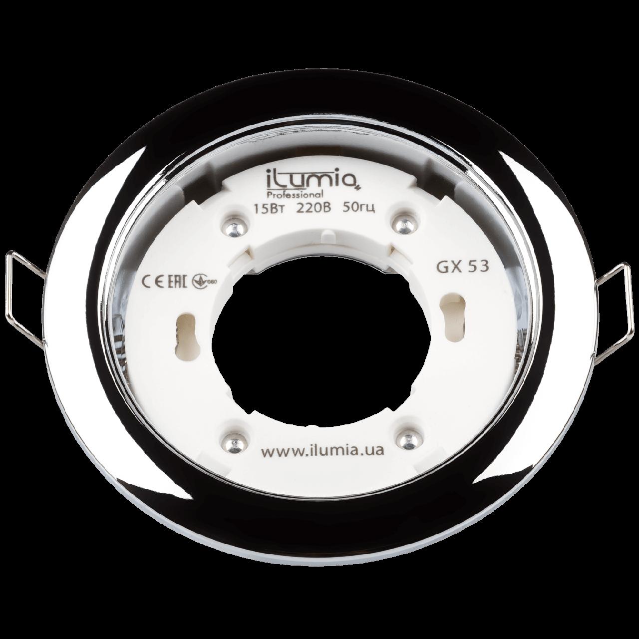 Светильник Ilumia Хром 90mm под лампу GX53 круг врезной (051)
