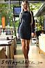 Платье короткое Ворот стойка из ангоры графит