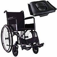 Стандартная инвалидная коляска, OSD Economy на литых колесах с санитарным оснащением, фото 1
