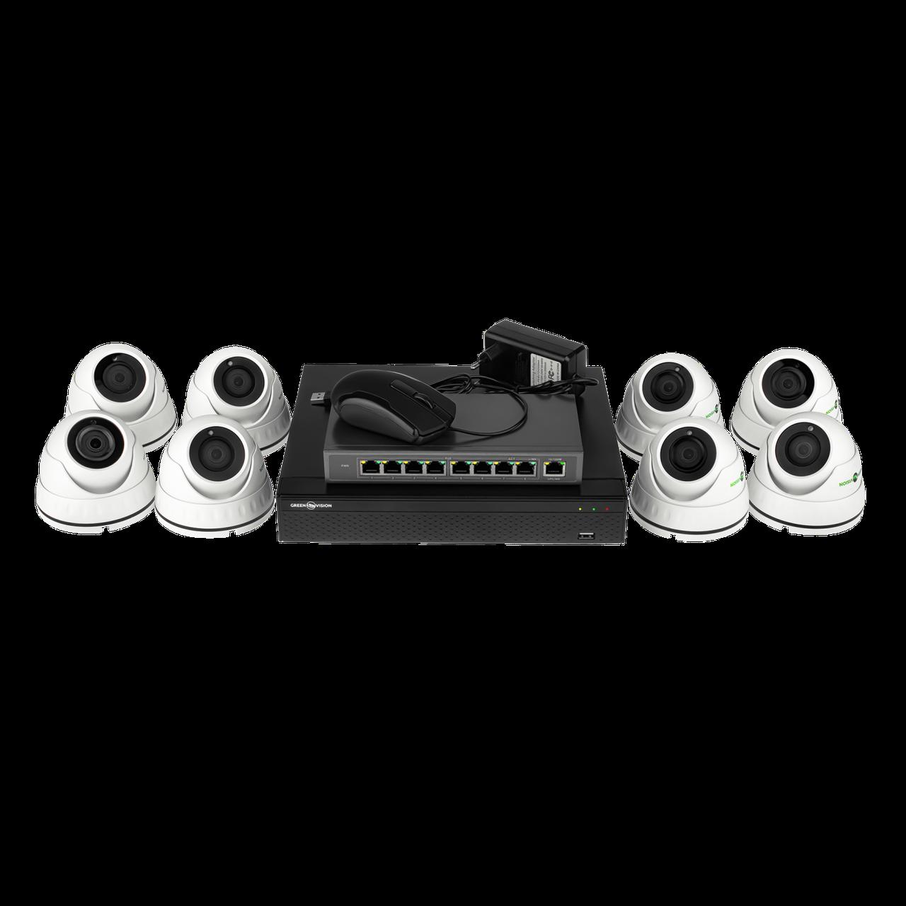 Комплект видеонаблюдения Green Vision GV-IP-K-L26/08 1080P