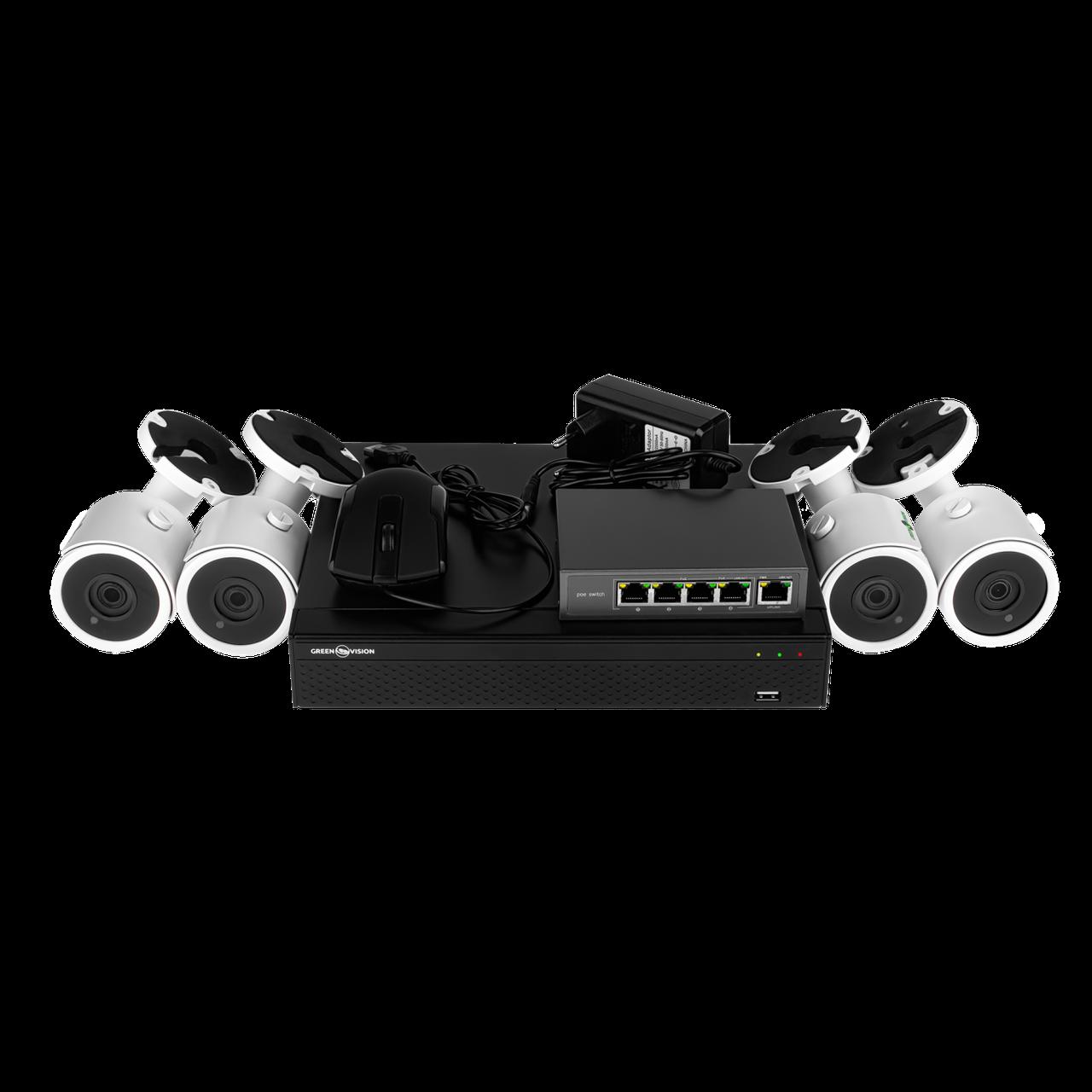 Комплект видеонаблюдения Green Vision GV-IP-K-L22/04 1080P