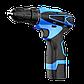 Аккумуляторный шуруповерт Pracmanu (синий) + Доп. Аккумулятор, фото 5