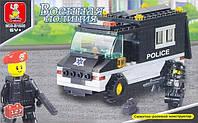 Конструктор Sluban серия Военная полиция M38-B1600 (Патрульная машина), фото 1