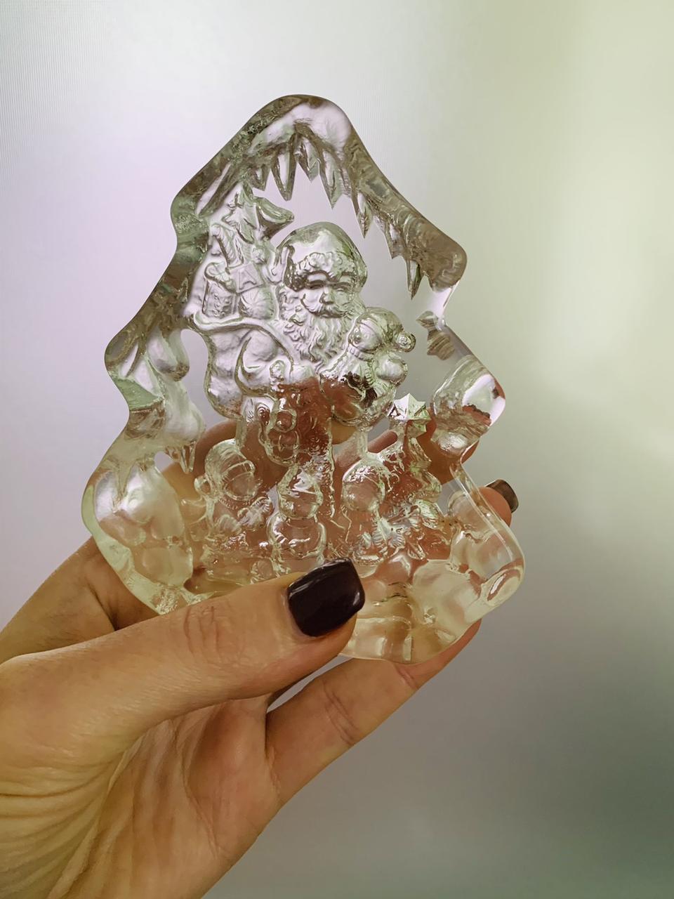 Елочка сувенирная стеклянная 9*11 см