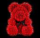 Мишка из 3D роз 40 см красный, фото 2