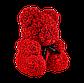 Мишка из 3D роз 40 см красный, фото 3