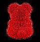 Мишка из 3D роз 40 см красный, фото 5