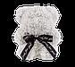 Мишка из 3D роз 25 см белый, фото 2