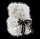 Мишка из 3D роз 25 см белый, фото 3