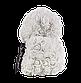 Мишка из 3D роз 25 см белый, фото 4