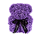 Мишка из 3D роз 25 см фиолетовый, фото 2