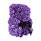 Мишка из 3D роз 25 см фиолетовый, фото 3