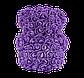 Мишка из 3D роз 25 см фиолетовый, фото 5