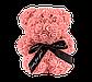 Мишка из 3D роз 25 см коралловый, фото 2