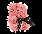 Мишка из 3D роз 25 см коралловый, фото 3