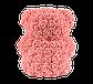 Мишка из 3D роз 25 см коралловый, фото 5