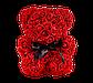 Мишка из 3D роз 25 см красный, фото 2
