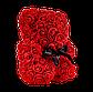 Мишка из 3D роз 25 см красный, фото 3