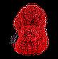 Мишка из 3D роз 25 см красный, фото 4