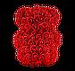 Мишка из 3D роз 25 см красный, фото 5