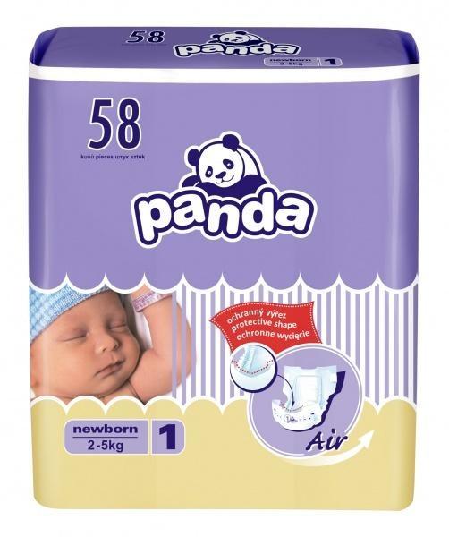 Подгузники Panda Newborn 2-5 кг 58 шт (5900516601683)