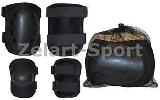 Защита тактическая наколенники, налокотники  (рр XL, ABS, полиэстер 600D, черный)