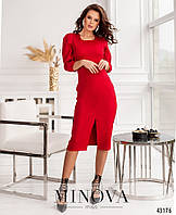 Яркое платье-футляр со шлицей впереди с 42 по 48 размер, фото 1