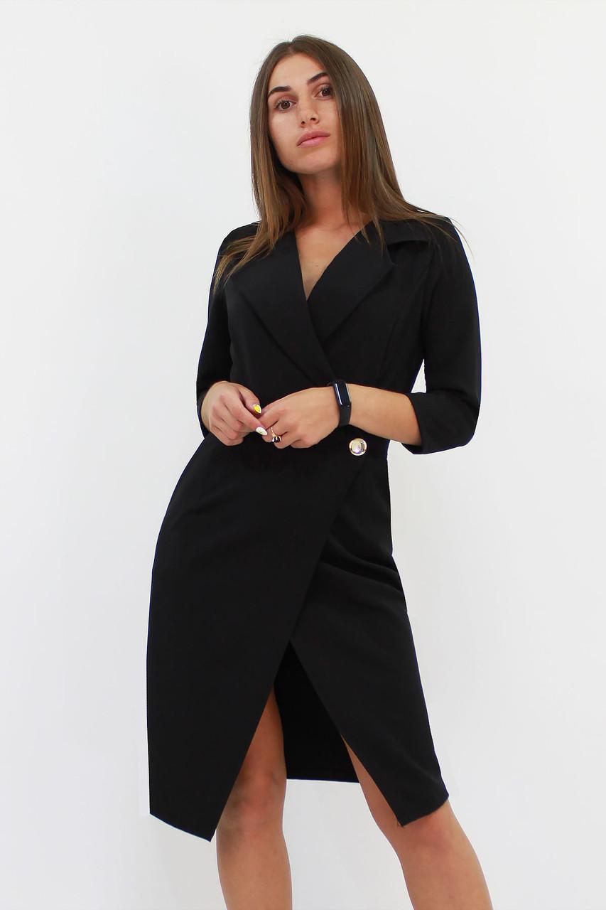 Вишукане жіноче плаття на запах Kristall, чорний