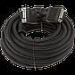 Кабель VGA-10.0BK LogicPower 10 м черный (с двумя ферритовыми кольцами), фото 2
