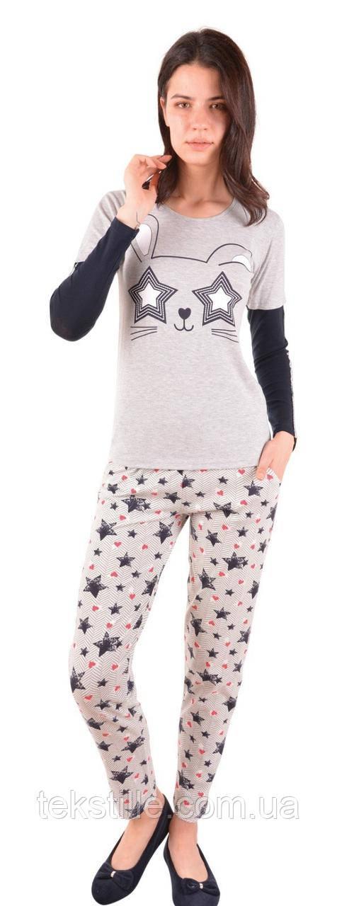 Пижама женская Трикотаж брюки Nicoletta L