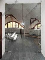 Стеклянные  двери маятниковые межкомнатные (открытие в обе стороны)