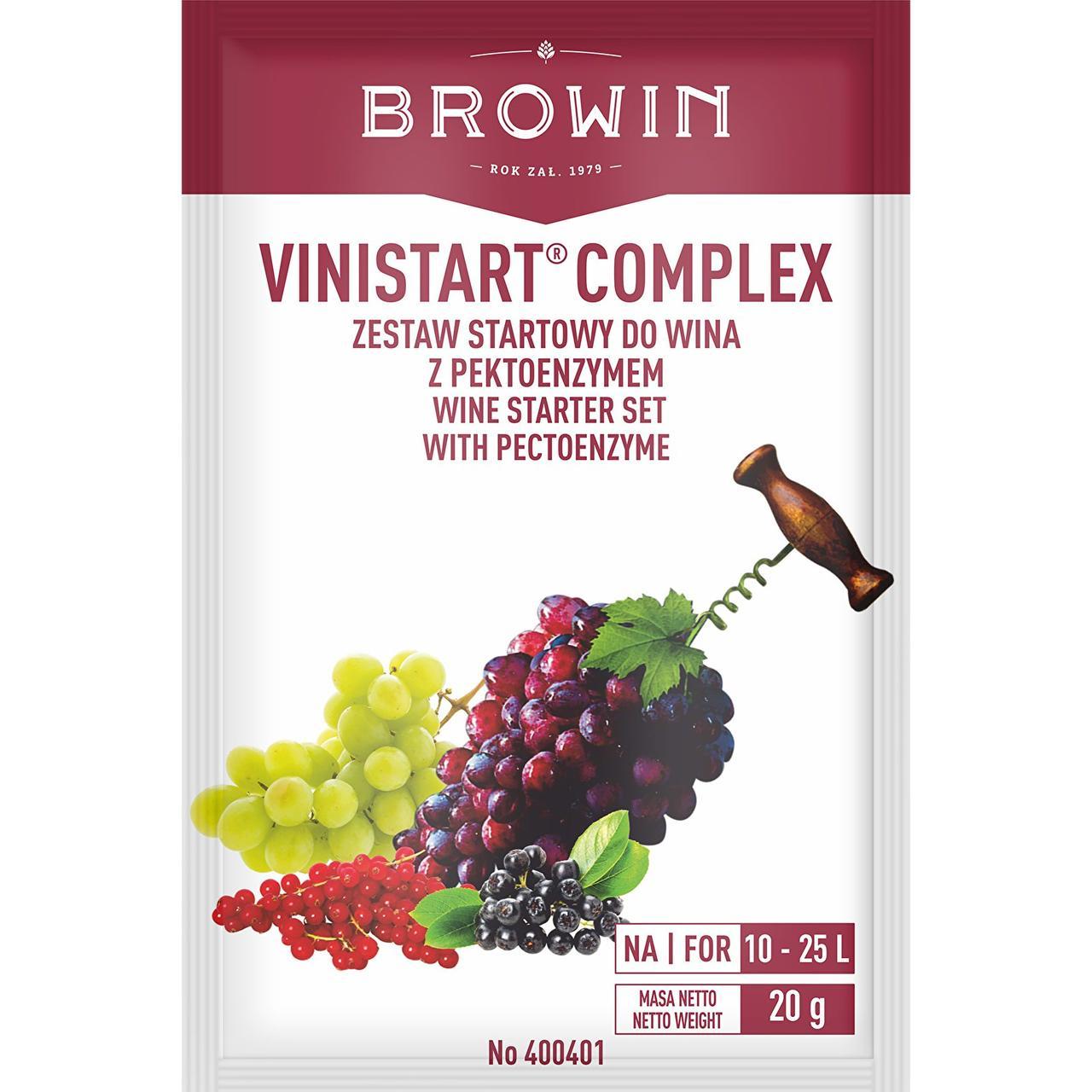 Винистарт Комплекс - закваска для брожения вина, 20 г Термвн придатності до 06.2021