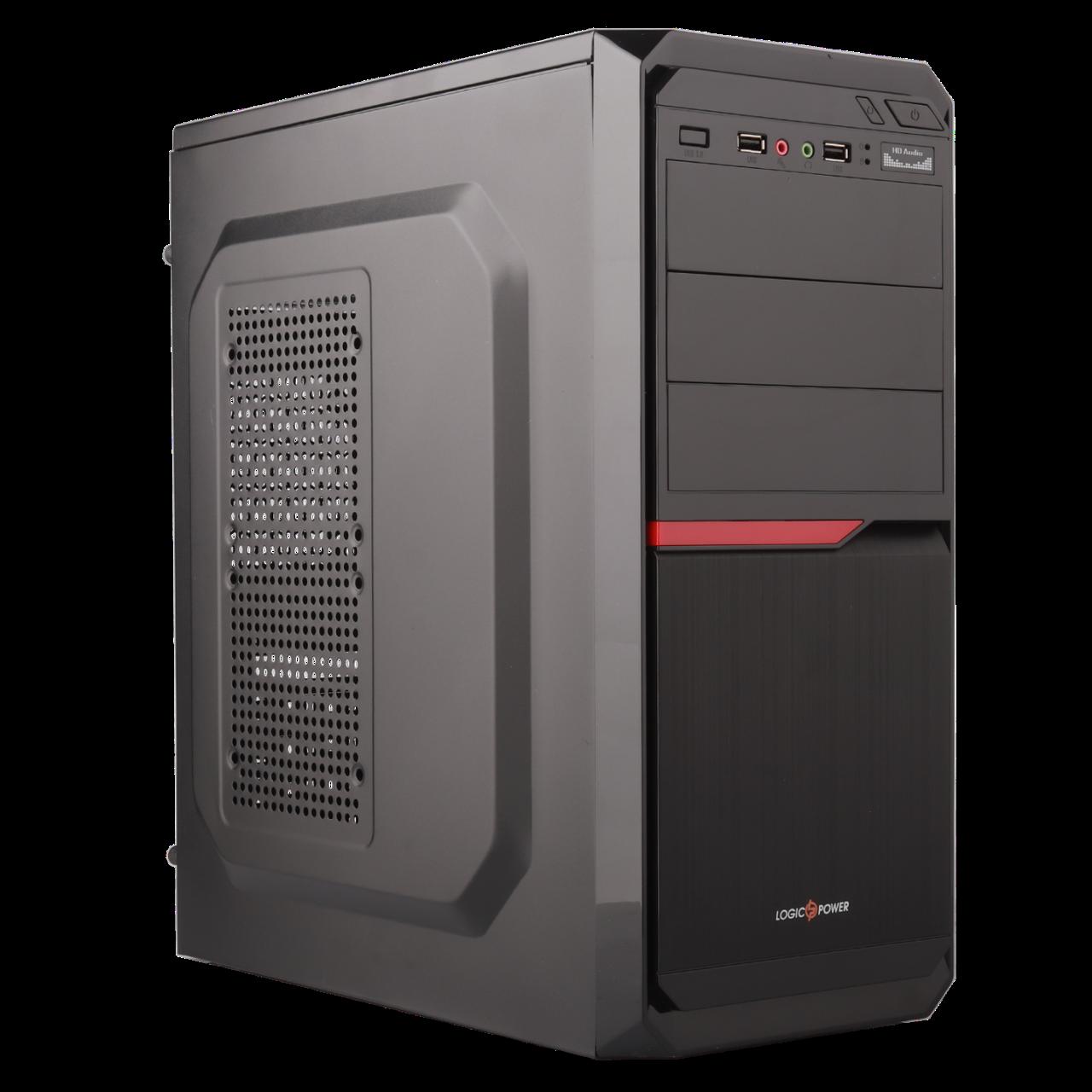 Корпус LP 2010-500W 8см black case chassis cover с 2xUSB2.0